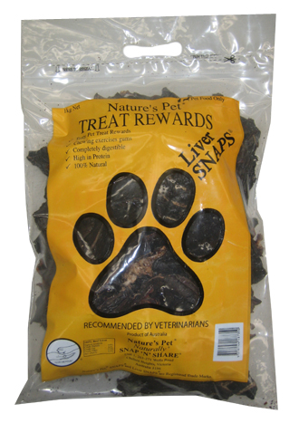 Nature's Pet® SNAPS®<br>Liver SNAPS® 1kg<br>SNAP'N'SHARE®<br>