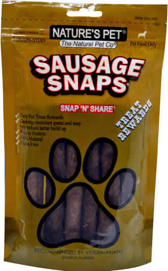 Nature's Pet®<br>Sausage SNAPS® 8 SNAPS-STIX®<br>SNAP'N'SHARE®